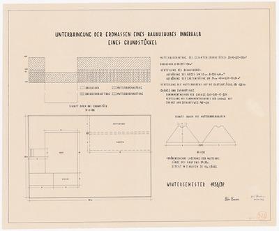 Messpläne, technische Zeichnungen und Berechnungen zur Gartentechnik