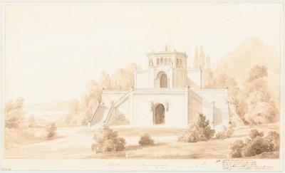 Begräbniskapelle. Monatskonkurrenz April 1843