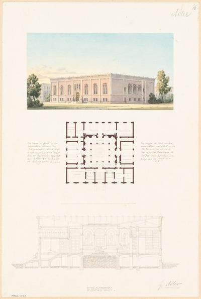 Vereinshaus des Architekten-Vereins zu Berlin. Monatskonkurrenz September 1850