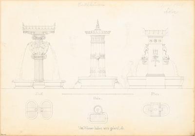 Laufbrunnen in Berlin. Monatskonkurrenz April 1855