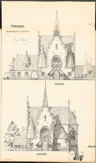 Wallfahrtskirche. Monatskonkurrenz März 1899