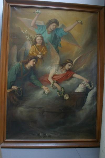 Dood van de heilige Coleta van Corbie