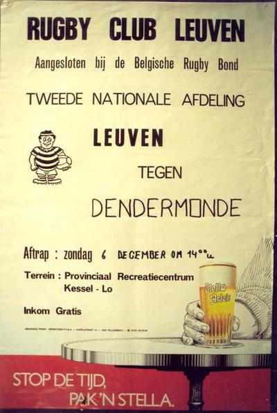 Image from object titled Rugby Club Leuven tweede nationale afdeling tegen Dendermonde, zondag 6 december