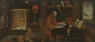 De heilige Hiëronymus in zijn werkkamer