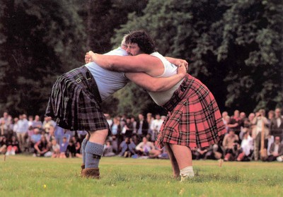 Image from object titled Wrestling at the Highland Games