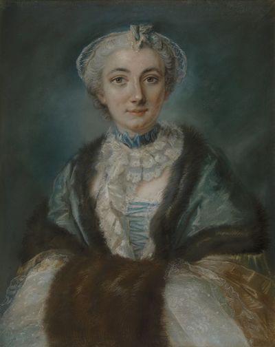 Portret van mevrouw de Malvoisin