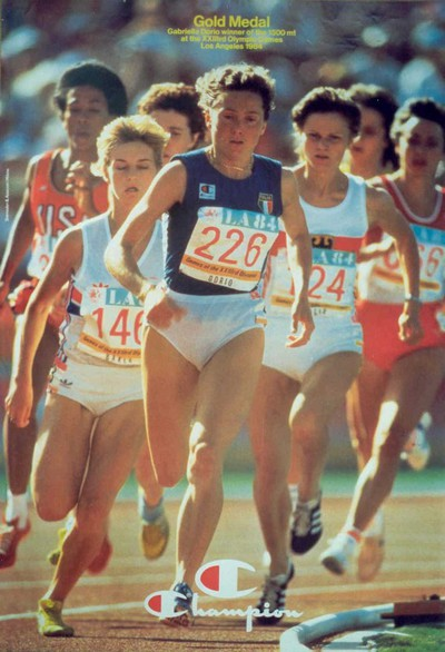 Image from object titled Gold Medal: Gabriella Dorio winner of the 1500 mt at the XXIIIrd Olympic Games Los Angeles 1984