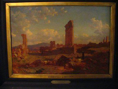 De ruïnes van de zonnetempel in Baalbek