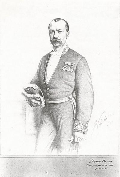 Joseph Schubert (1815-1885), Portret G. Bamps, 1880, lithografie.