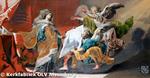 De twee engelen brengen de Heilige Elisabeth van Hongarije het verzoek van O.L.Vrouw om in Alsemberg een kerk te bouwen.