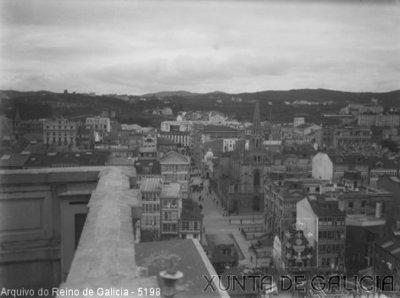 A Coruña Visual Vista Parcial Da Cidade Dende A Terraza