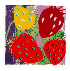 Erdbeeren. Aus: 6 Paraphrasen zur Pop-Art