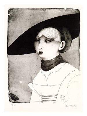 Porträt einer jungen Dame nach Lucas Cranach