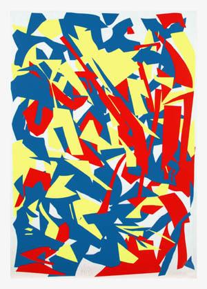 Gelb Rot. Aus einer Serie von 54 Messerschnitten, Nr. 11