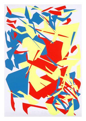 Gelb Rot Blau. Aus einer Serie von 54 Messerschnitten, Nr. 47