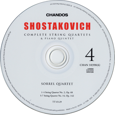 Image from object titled CD 5: String quartet No. 5, Op. 92 ; String quartet No. 15, Op. 144