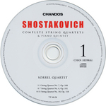 Image from object titled CD 6: String quartet No. 1, Op. 49 ; String quartet No. 12, Op. 133 ; Piano Quintet, Op. 57