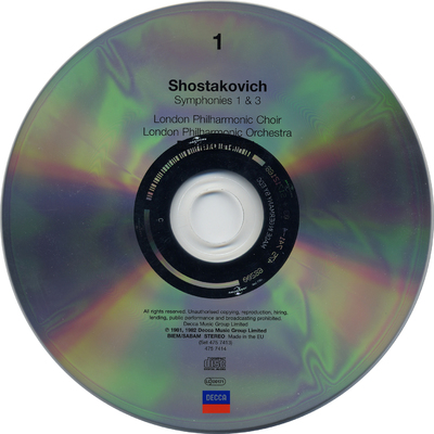 Image from object titled CD 8: Symphony No.11