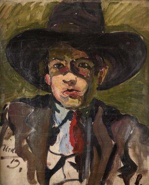 Autoportret u crnom šeširu