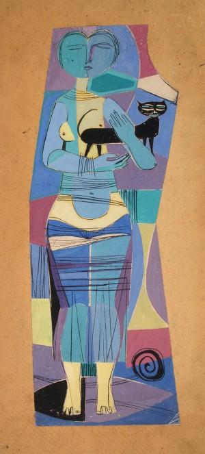 Žena s mačkom