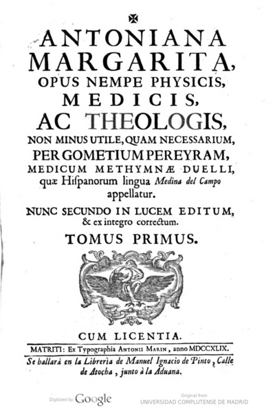 Image from object titled Antoniana Margarita, opus nempe physicis medicis ac theologis ...