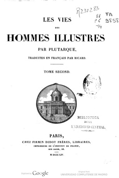 Image from object titled Les vies des hommes illustres