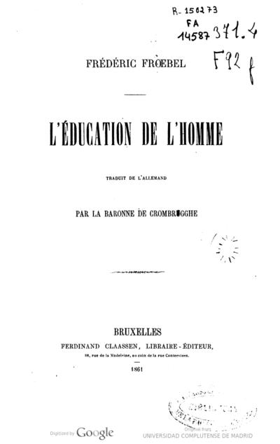 Image from object titled L'éducation de l'homme