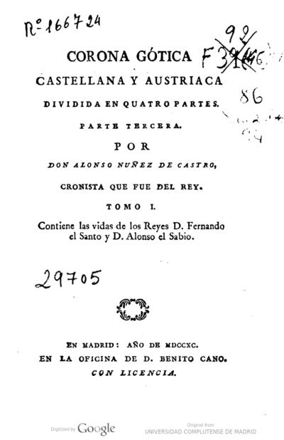 Image from object titled Corona Gótica castellana y austriaca dividida en quatro partes : parte tercera