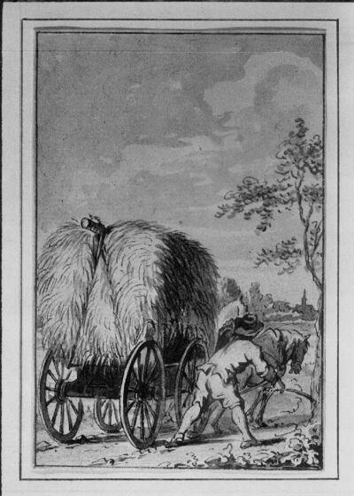 """""""Das Heupferd oder der Grashüpfer"""" (de sprinkhaan) (illustratie voor een verhalenbundel)"""