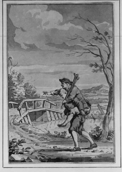 """""""Der Blinde und der Lahme"""" (de blinde en de lamme) (illustratie voor een verhalenbundel)"""