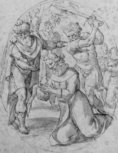 Un roi faisant décapiter des croisiers