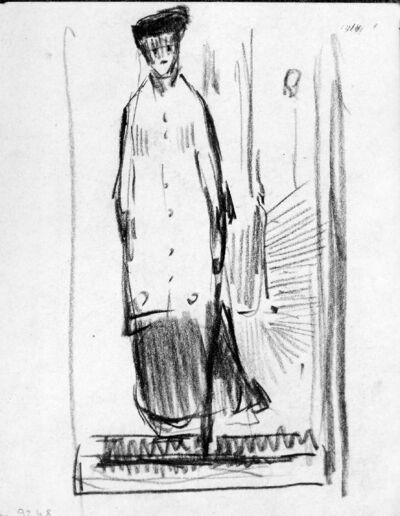 Femme au manteau