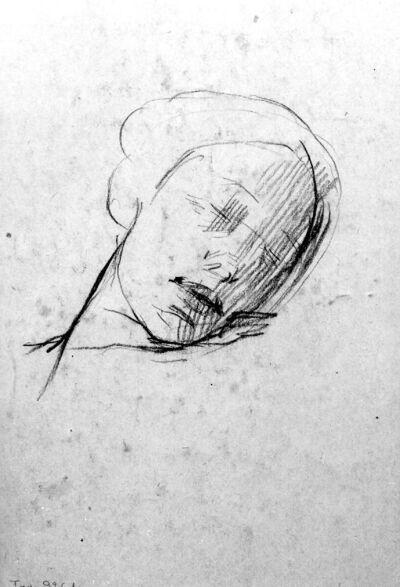 Tête de femme endormie