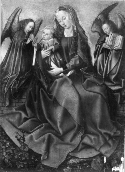 H. Maagd met Kind tussen engelen