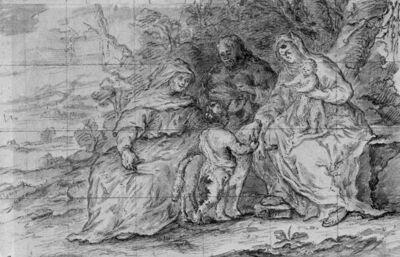 H. Familie met Sint-Anna en Sint-Janneke met het Lam
