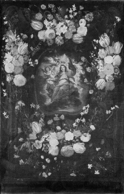 Kroning van Maria in een bloemenkrans