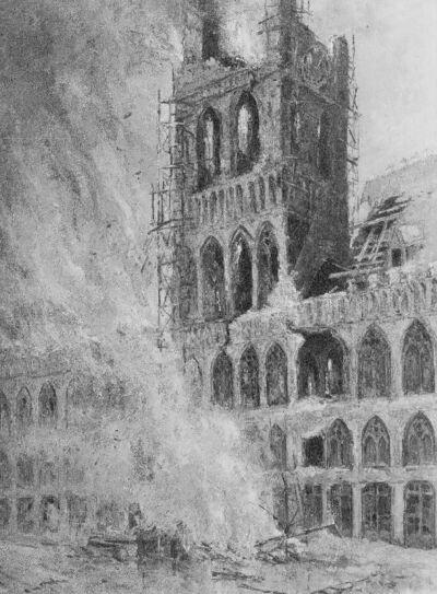 Incendie des halles d'Ypres