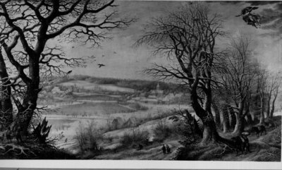 Wintergezicht/De abdij van Terkameren[?]