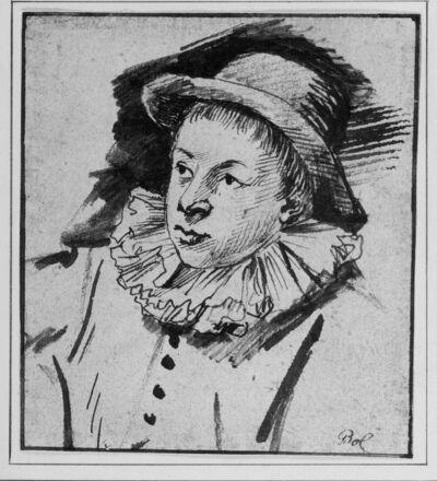 Portret van een jonge man met hoed (buste)