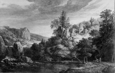 Heuvellandschap met ruïne