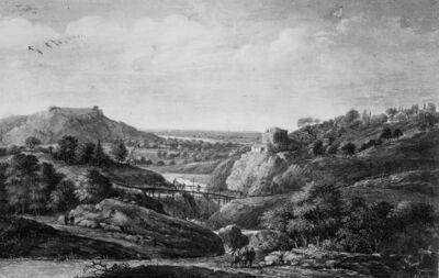 Rivier temidden van heuvellandschap