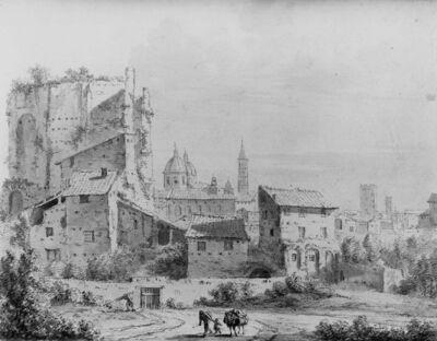 De thermen van Trajanus en Santa Maria Maggiore te Rome