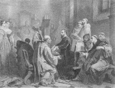Image from object titled Adrien Willaert faisant exécuter devant le doge de Venise une messe en musique de sa composition