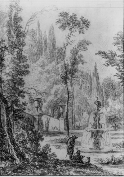 Park met fontein