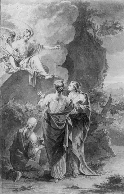 Engel verschijnt aan de Heilige Vrouwen bij het graf van Christus