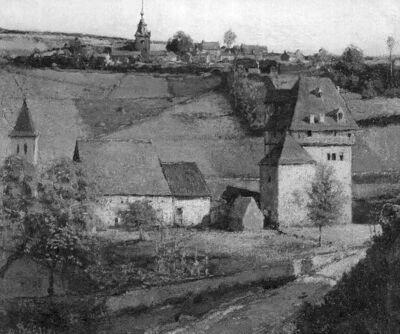 Village et château de Crupet en Ardenne