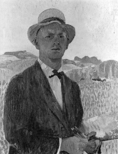 Portrait du peintre Werner Miller