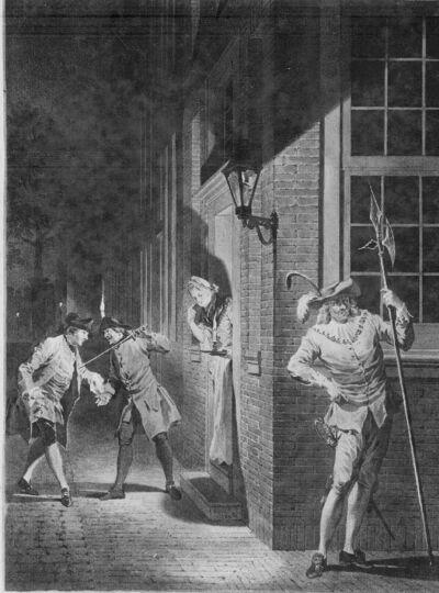 De kapitein Ulrich door zijn vrouw bedrogen