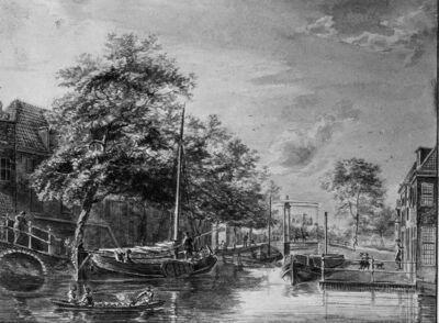 Kanaal in een Hollands dorp