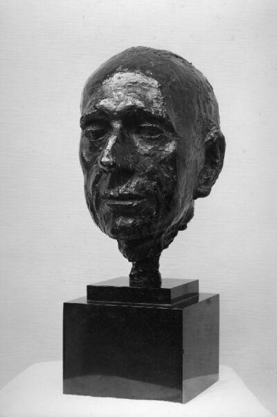 Tête de Franz Hellens, écrivain (1881-1972)